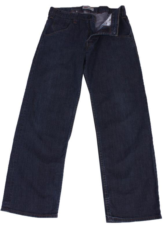 """Lot Vintage Blue Jeans with Buttons&Zip Unisex Size - W:32"""" L:29"""" - J2160-0"""