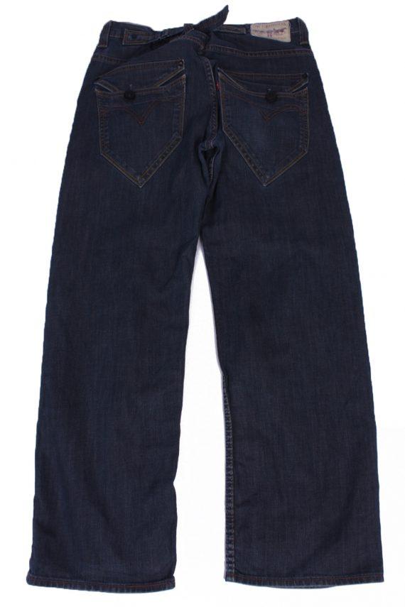 """Lot Vintage Blue Jeans with Buttons&Zip Unisex Size - W:32"""" L:29"""" - J2160-26449"""