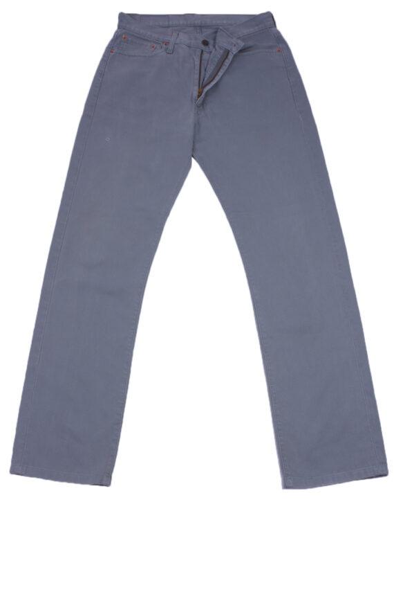 "Levi's 505 Vintage Gray Jeans with Buttons&Zip Women Size - W:32"" L:32"" - J2459-0"