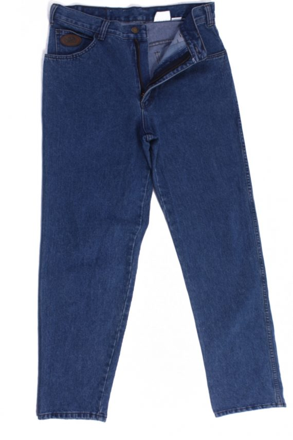 Efro Dennim Vintage Blue Jeans with Buttons&Zip Women Size - W30 L32.5 - J2100-0