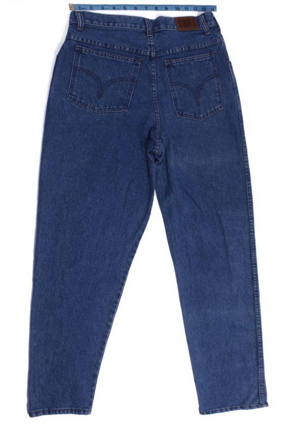 Efro Dennim Vintage Blue Jeans with Buttons&Zip Women Size - W30 L32.5 - J2100-26149