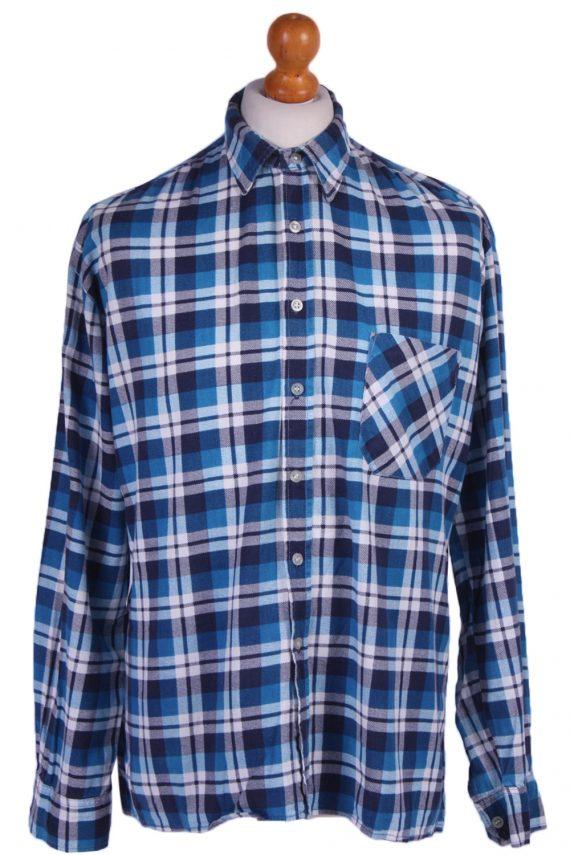"Vintage Flannel 90s Men Long Sleeve Shirt Lumberjack Chest Size 49"" - SH2292-0"