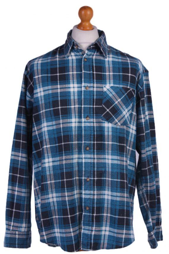 "Vintage Flannel 90s Men Cosy Shirt Lumberjack Check Size 48"" - SH2297-0"