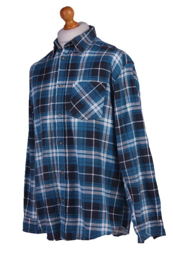 "Vintage Flannel 90s Men Cosy Shirt Lumberjack Check Size 48"" - SH2297-29230"