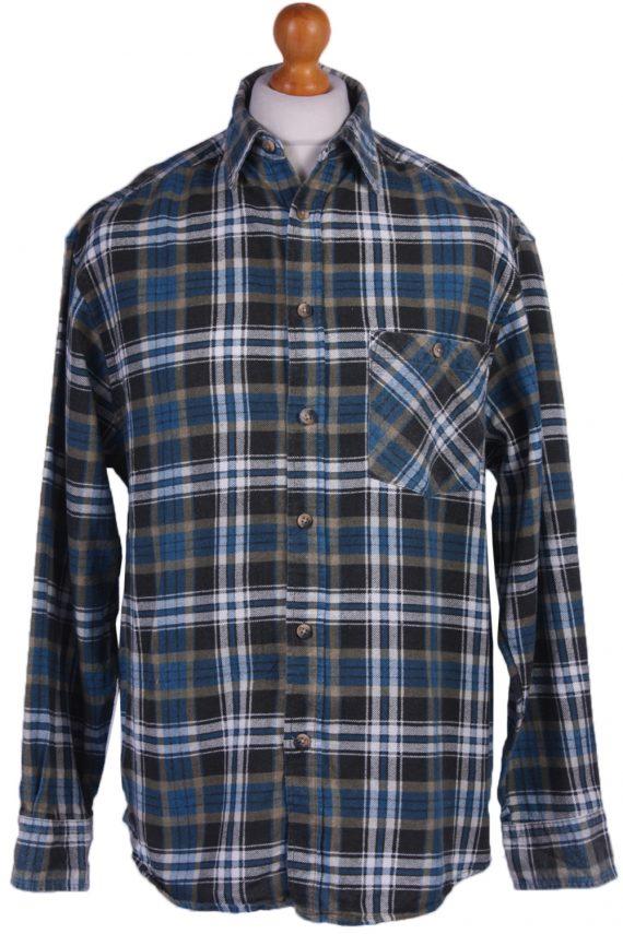 "Vintage Flannel 90s Men Cosy Shirt Lumberjack Check Retro Size 45"" - SH2298-0"