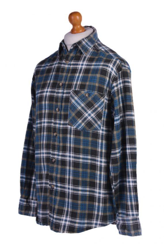 "Vintage Flannel 90s Men Cosy Shirt Lumberjack Check Retro Size 45"" - SH2298-29234"