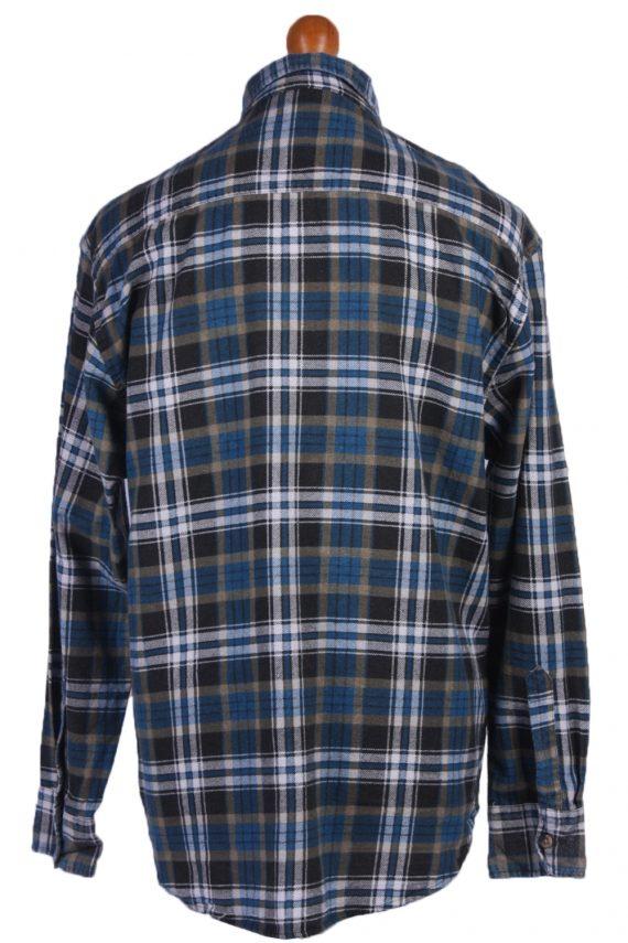 "Vintage Flannel 90s Men Cosy Shirt Lumberjack Check Retro Size 45"" - SH2298-29235"