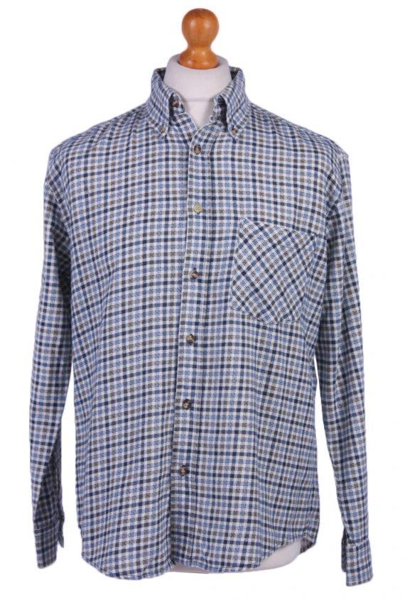 "Mens Vintage Flannel Shirt Lumberjack Check Pattern Multicolour Size 45"" -SH2306-0"