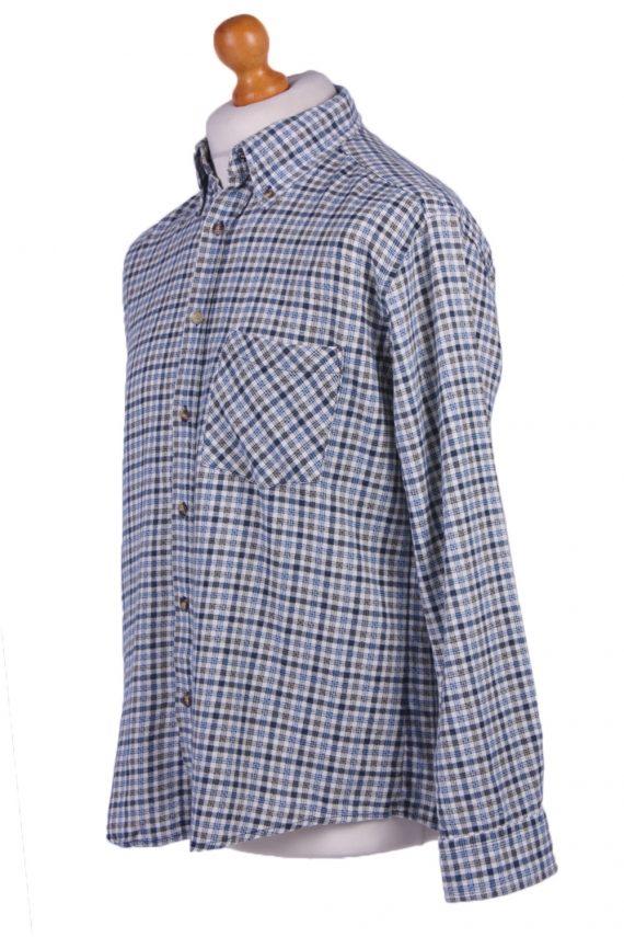 "Mens Vintage Flannel Shirt Lumberjack Check Pattern Multicolour Size 45"" -SH2306-29266"
