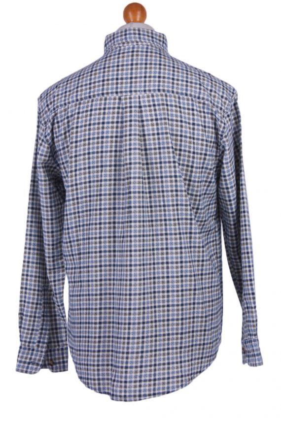 "Mens Vintage Flannel Shirt Lumberjack Check Pattern Multicolour Size 45"" -SH2306-29267"
