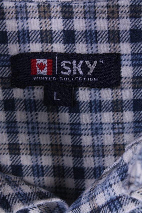 "Mens Vintage Flannel Shirt Lumberjack Check Pattern Multicolour Size 45"" -SH2306-29268"