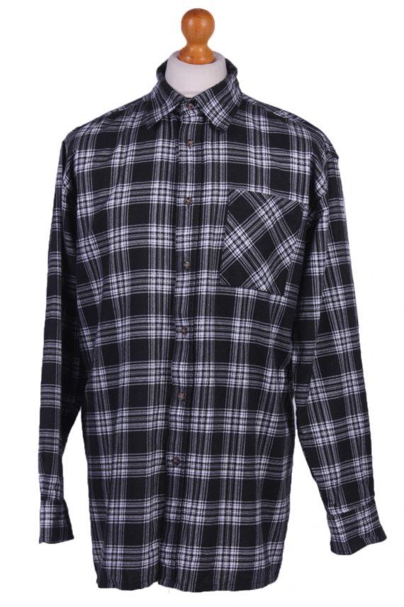 "Mens Vintage Flannel Shirty Lumberjack Check Pattern Multicolour Size 50""-SH2310-0"