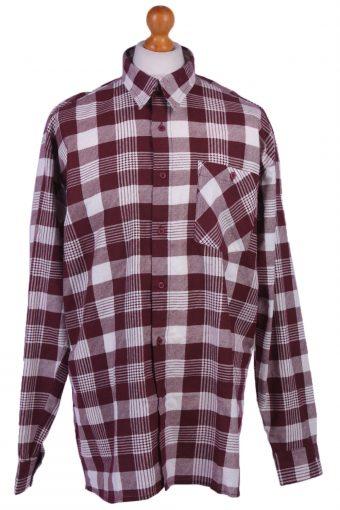 Flannel Men Shirt Lumberjack Cosy Check Pattern Multi XL
