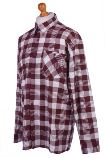 "Vintage Flannel Men Shirt Lumberjack Cosy Multicolour Check Pattern 50""-SH2315-29302"