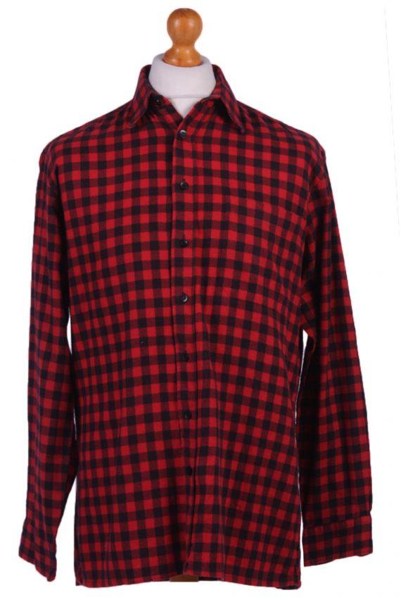 "Vintage Flannel Men Shirt Lumberjack Cosy Multicolour Check Pattern 45""-SH2317-0"