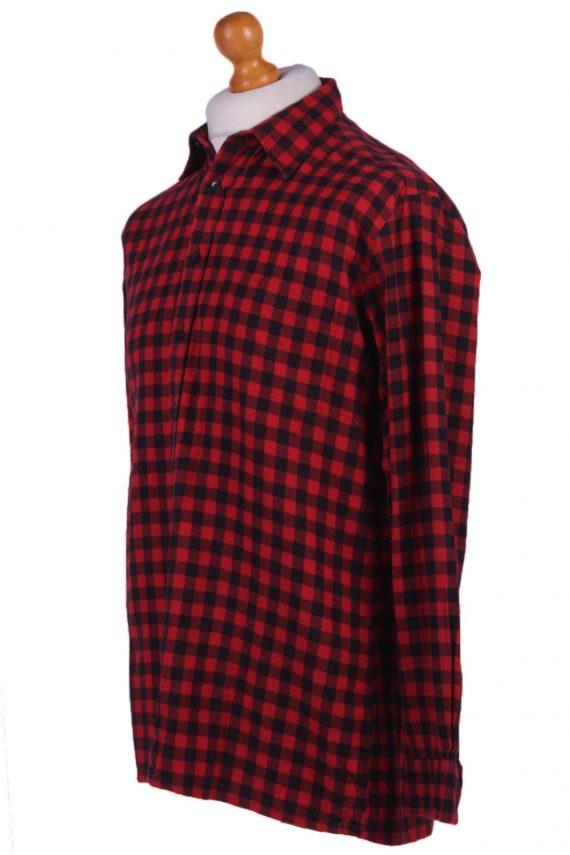 "Vintage Flannel Men Shirt Lumberjack Cosy Multicolour Check Pattern 45""-SH2317-29309"