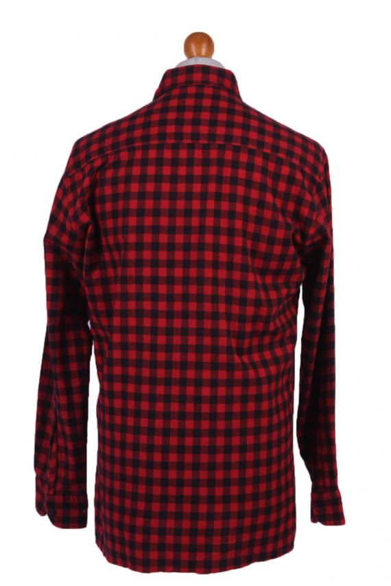 "Vintage Flannel Men Shirt Lumberjack Cosy Multicolour Check Pattern 45""-SH2317-29310"