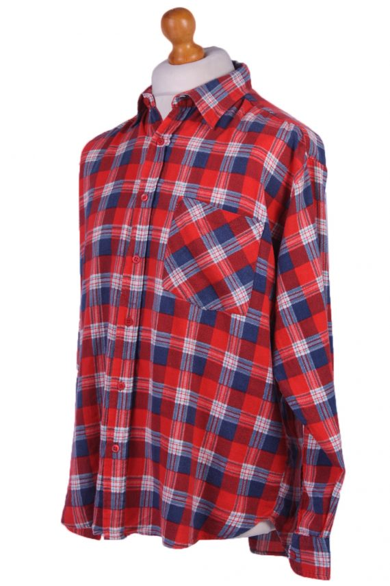 "Vintage Flannel Men Shirt Lumberjack Cosy Multicolour Check Pattern 51""-SH2322-29334"