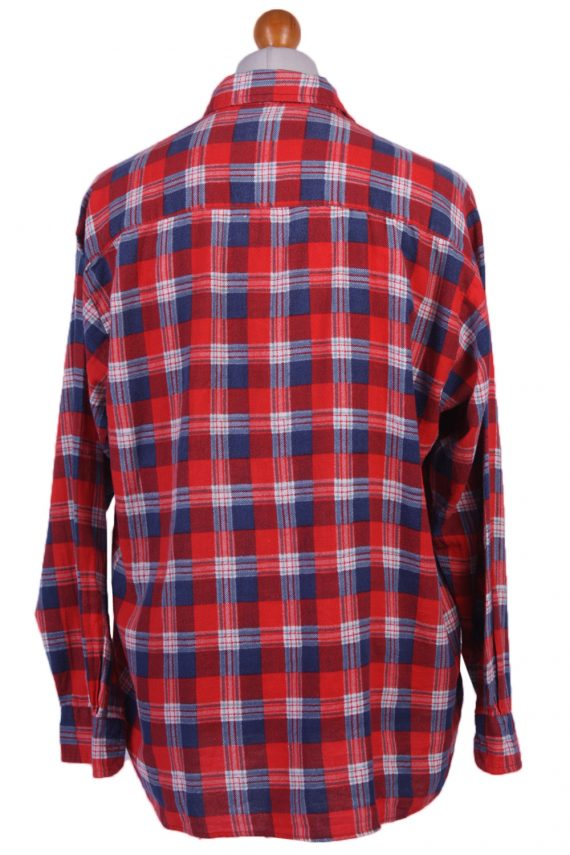 "Vintage Flannel Men Shirt Lumberjack Cosy Multicolour Check Pattern 51""-SH2322-29335"