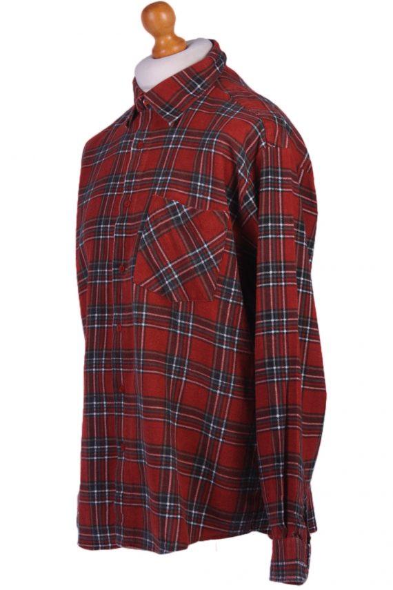 "Vintage Flannel Men Shirt Lumberjack Cosy Multicolour Check Pattern 48""-SH2324-29344"
