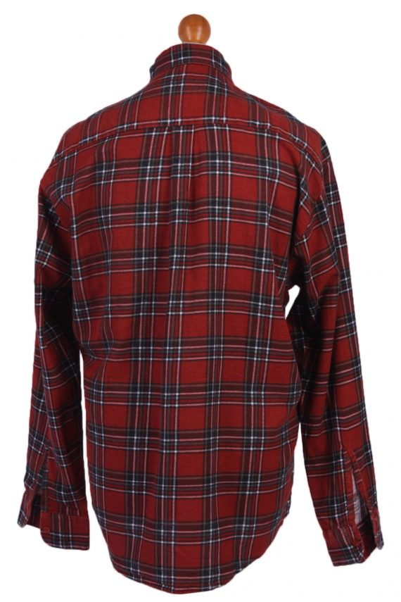 "Vintage Flannel Men Shirt Lumberjack Cosy Multicolour Check Pattern 48""-SH2324-29345"