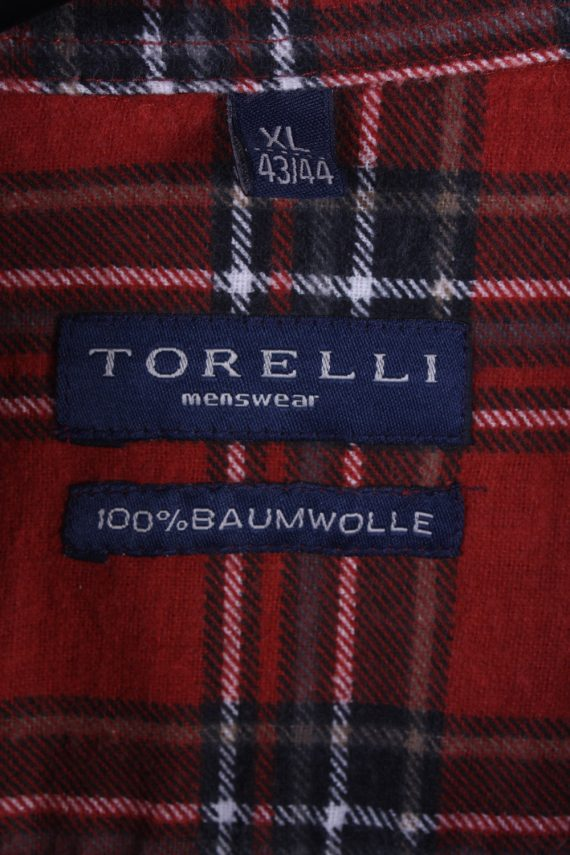 "Vintage Flannel Men Shirt Lumberjack Cosy Multicolour Check Pattern 48""-SH2324-29346"