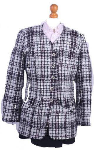 Women Blazer Jacket Black M