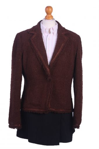 Women Blazer Jacket Brown L