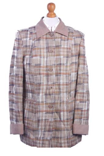 Women Blazer Jacket Beige XL
