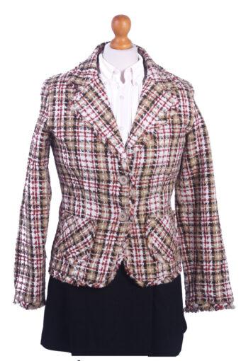 Women Blazer Jacket Beige M