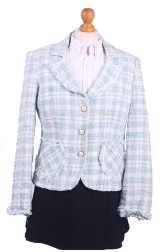 Women Blazer Jacket Blue M