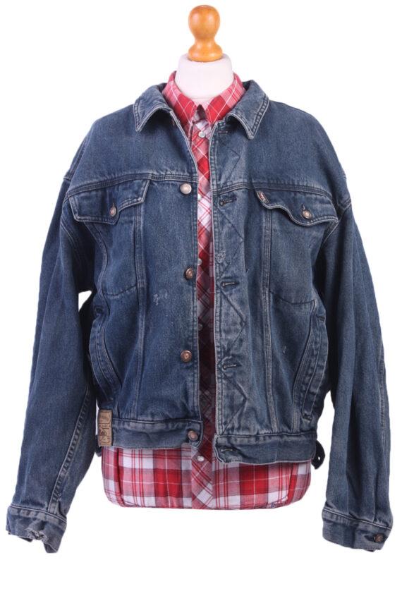 Vintage Denim Lee Trucker Jacket Blue Size L -DJ1075-0