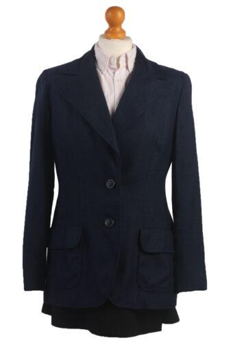 Women Blazer Jacket Navy Blue M