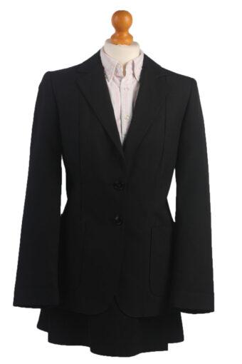 Women Tweed Jacket Navy Blue L