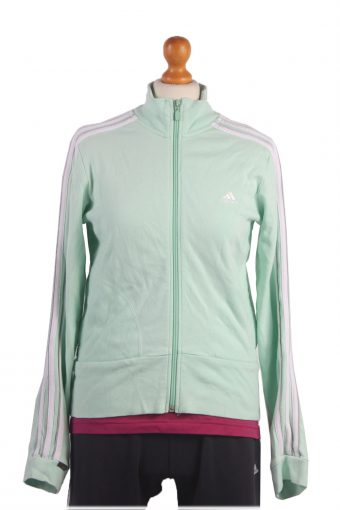 Adidas Track Top 90s Retro High Neck Light Green M
