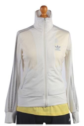 Adidas Track Top 90s Retro High Neck White M