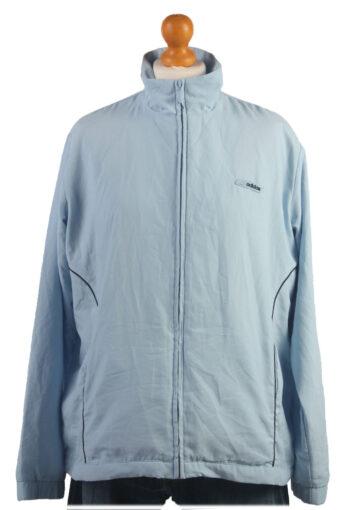 Adidas Track Top 90s Retro High Neck Light Blue XL