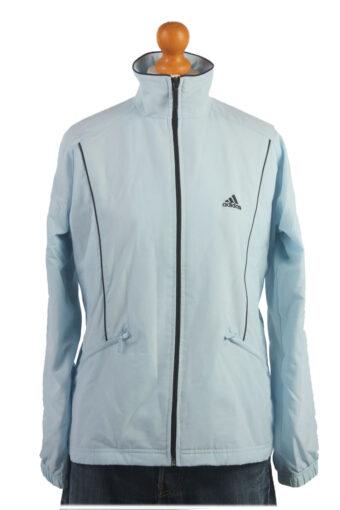 Adidas Track Top 90s Retro High Neck Light Blue L