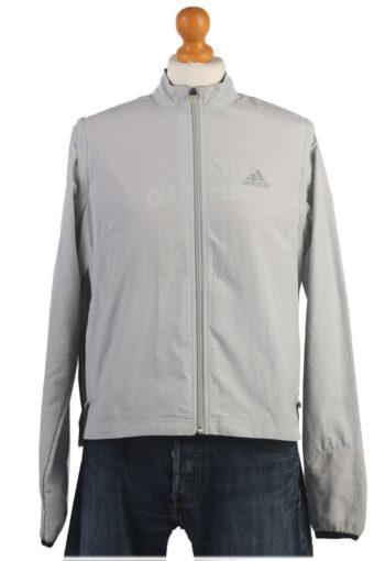 Adidas Track Top 90s Retro High Neck Light Grey L