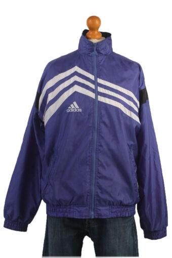 Adidas Track Top 90s Retro High Neck Blue M