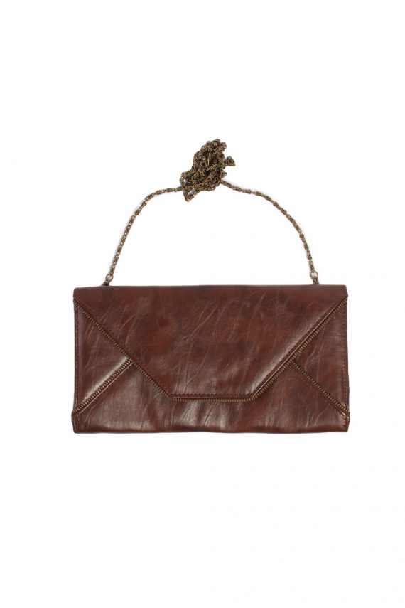 Brown Zip Lined Letter Bag - BG342-0
