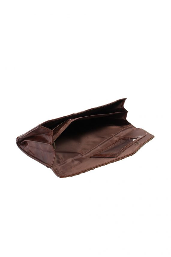 Brown Zip Lined Letter Bag - BG342-40230