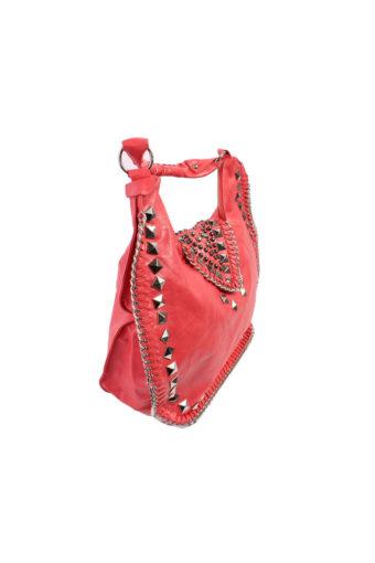 Studded Flap Shoulder Bag
