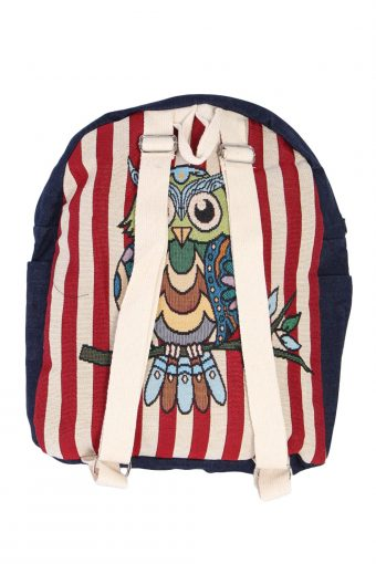 Ladies Owl Printed Canvas Bag - Multi Colour Owl - BG389-40569