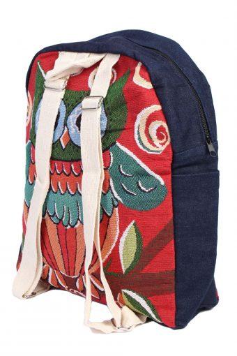 Ladies Owl Printed Bag- Red - BG397-40628