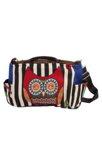 Ladies Owl Printed Bag- Multi Colour