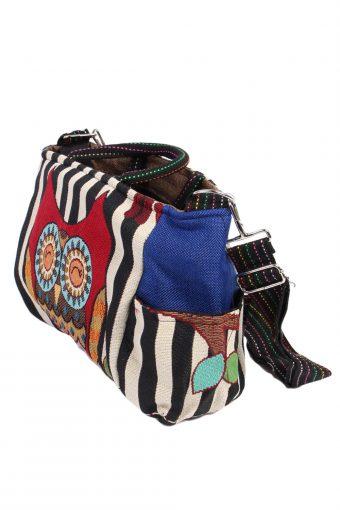 Ladies Owl Printed Bag- Multi Colour - BG401-40640