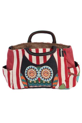 Womens Owl Printed Bag- Multi Colour