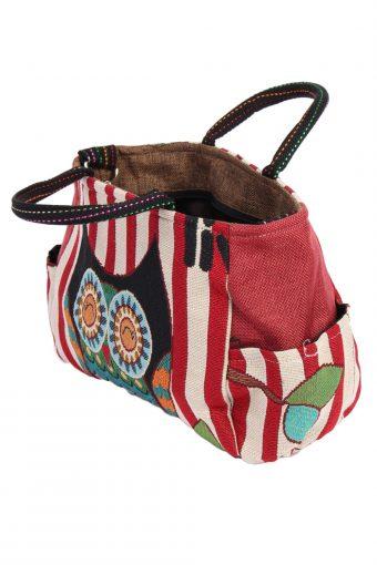 Womens Owl Printed Bag- Multi Colour - BG402-40643