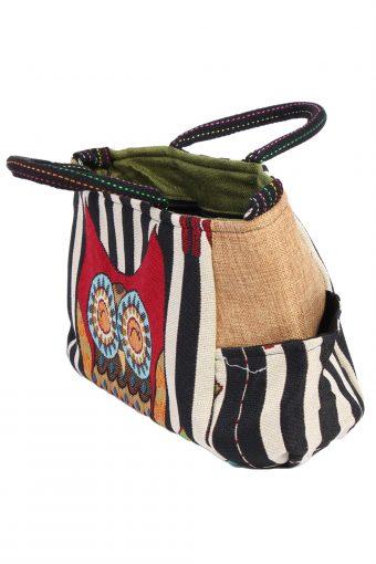 Ladies Owl Printed Bag- Multi Colour - BG403-40646